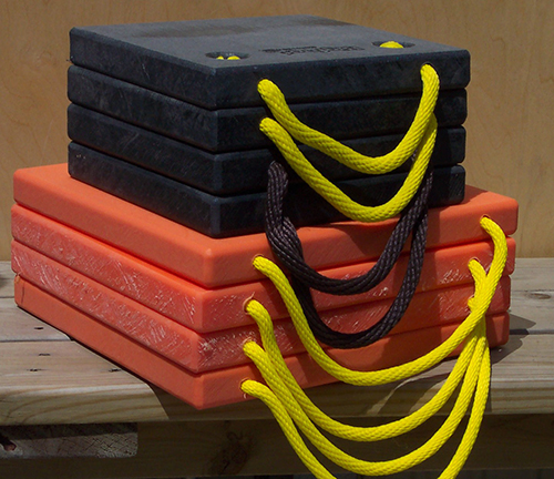 Black and Orange Plastic Outrigger Pads for RV's